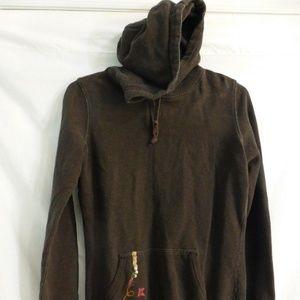 ARITZIA TNA, brown, extra small, xs, anorak hoodie